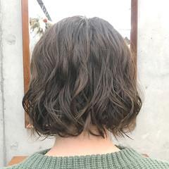 パーマ ナチュラル パーマ ボブ ヘアスタイルや髪型の写真・画像