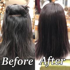 髪質改善 セミロング 美髪 縮毛矯正 ヘアスタイルや髪型の写真・画像
