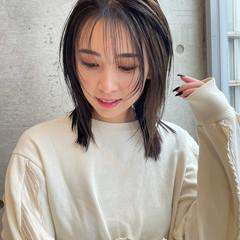 ショートレイヤー レイヤースタイル レイヤーカット ミディアム ヘアスタイルや髪型の写真・画像