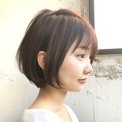 ショートボブ ナチュラル 小顔ショート ショートヘア ヘアスタイルや髪型の写真・画像