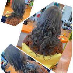 エレガント 白髪染め ブリーチオンカラー ロング ヘアスタイルや髪型の写真・画像