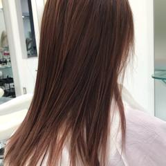 グラデーションカラー バレイヤージュ ナチュラル ロング ヘアスタイルや髪型の写真・画像