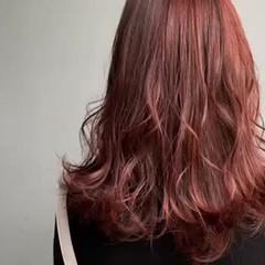 フェミニン ピンク ピンクブラウン ブリーチなし ヘアスタイルや髪型の写真・画像