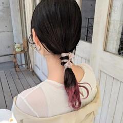 ヘアアレンジ フェミニン ローポニーテール 結婚式 ヘアスタイルや髪型の写真・画像