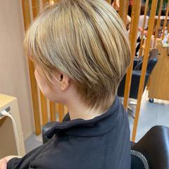 モード ハイトーンカラー ブロンドカラー ショートヘア ヘアスタイルや髪型の写真・画像