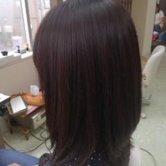 ナチュラル 艶髪 チョコレート ミディアム ヘアスタイルや髪型の写真・画像