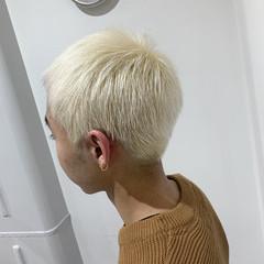 ショート メンズヘア メンズカット ホワイトカラー ヘアスタイルや髪型の写真・画像