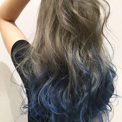 ハイトーン 夏 ロング ベージュ ヘアスタイルや髪型の写真・画像