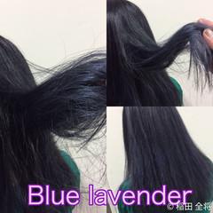 ブルーアッシュ ストリート ヘアカラー グラデーションカラー ヘアスタイルや髪型の写真・画像
