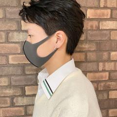 メンズショート ショートヘア メンズ ツーブロック ヘアスタイルや髪型の写真・画像
