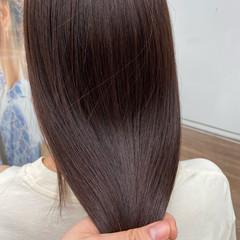 髪質改善トリートメント 髪質改善 髪質改善カラー セミロング ヘアスタイルや髪型の写真・画像