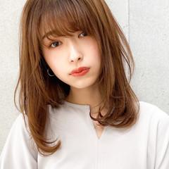 レイヤーカット ナチュラル ゆるふわパーマ デジタルパーマ ヘアスタイルや髪型の写真・画像