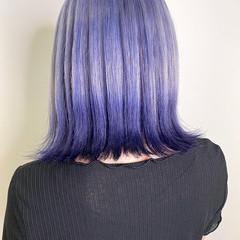 ブリーチカラー ハイトーンカラー ボブ ハイトーン ヘアスタイルや髪型の写真・画像