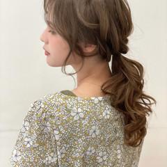 簡単ヘアアレンジ ゆるふわ ヘアアレンジ フェミニン ヘアスタイルや髪型の写真・画像