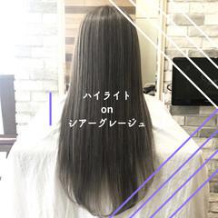 ストレート 縮毛矯正 髪質改善 ナチュラル ヘアスタイルや髪型の写真・画像