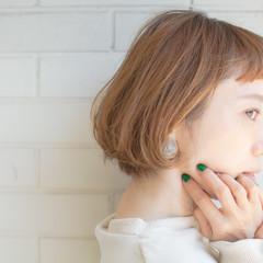 ベージュ ミニボブ ショートヘア ショートボブ ヘアスタイルや髪型の写真・画像