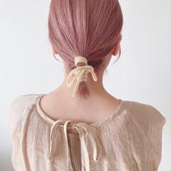 ヘアアレンジ ピンク ラベンダー ラベンダーカラー ヘアスタイルや髪型の写真・画像