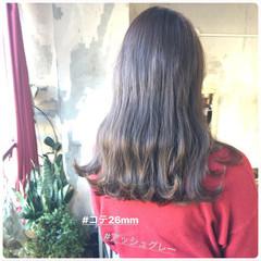 セミロング アンニュイほつれヘア 韓国ヘア ナチュラル ヘアスタイルや髪型の写真・画像