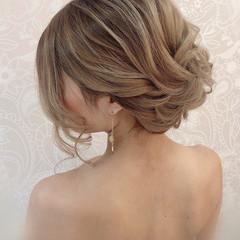 花嫁 ロング ヘアアレンジ 結婚式 ヘアスタイルや髪型の写真・画像
