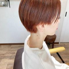 大人ショート オレンジカラー ベリーショート ストリート ヘアスタイルや髪型の写真・画像