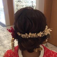 結婚式アレンジ ナチュラル 結婚式髪型 ヘアセット ヘアスタイルや髪型の写真・画像