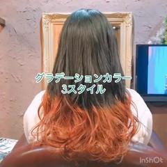 アウトドア ガーリー セミロング スポーツ ヘアスタイルや髪型の写真・画像