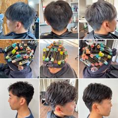 メンズパーマ ショート ショートヘア メンズヘア ヘアスタイルや髪型の写真・画像