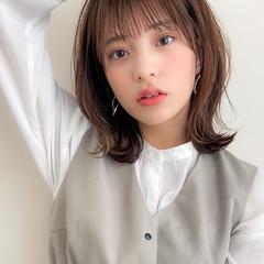 ミディアム デジタルパーマ アンニュイほつれヘア モテ髪 ヘアスタイルや髪型の写真・画像