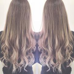 ロング 前髪エクステ エクステ ハイライト ヘアスタイルや髪型の写真・画像