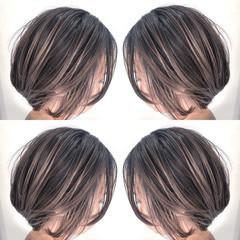 外国人風カラー エアータッチ ショート ストリート ヘアスタイルや髪型の写真・画像