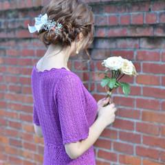 結婚式 ミディアム ギブソンタック 成人式 ヘアスタイルや髪型の写真・画像