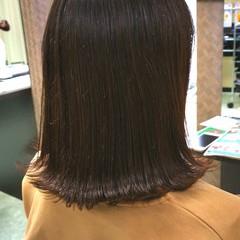 ナチュラル ボブ ミディアム 艶髪 ヘアスタイルや髪型の写真・画像