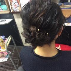 ふわふわヘアアレンジ ナチュラル 簡単ヘアアレンジ 卒業式 ヘアスタイルや髪型の写真・画像