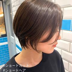 ハンサム 透明感カラー ハンサムショート ショート ヘアスタイルや髪型の写真・画像
