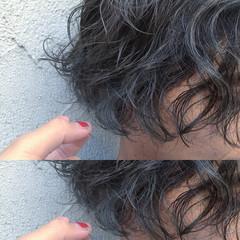 シルバーアッシュ アッシュ ショート シルバー ヘアスタイルや髪型の写真・画像