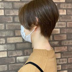 大人ショート ショート 透明感 ハンサムショート ヘアスタイルや髪型の写真・画像