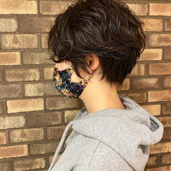 ショートボブ アディクシーカラー ショート パーマ ヘアスタイルや髪型の写真・画像
