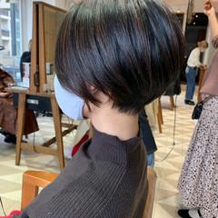 大人ハイライト ベリーショート ショートヘア ナチュラル ヘアスタイルや髪型の写真・画像