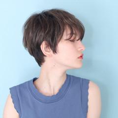 ショートボブ ベリーショート ナチュラル ショートヘア ヘアスタイルや髪型の写真・画像