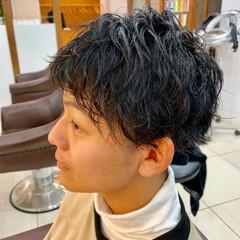 ショート ナチュラル 黒髪 パーマ ヘアスタイルや髪型の写真・画像