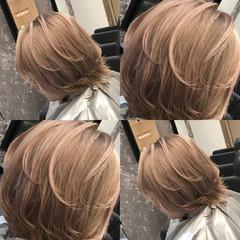ストリート ミルクティーベージュ ヌーディベージュ ベージュ ヘアスタイルや髪型の写真・画像