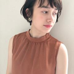 透明感 夏 涼しげ ショート ヘアスタイルや髪型の写真・画像