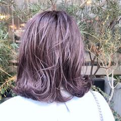 ラベンダーピンク イルミナカラー ラベンダーアッシュ ガーリー ヘアスタイルや髪型の写真・画像