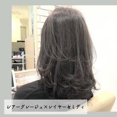 前髪 ナチュラル 髪質改善 ミディアム ヘアスタイルや髪型の写真・画像