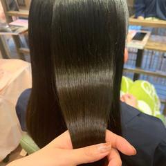 髪質改善 髪質改善トリートメント セミロング ストレート ヘアスタイルや髪型の写真・画像