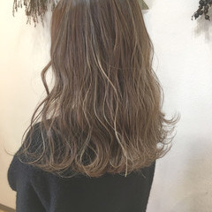 ナチュラル 透明感 ロング ハイライト ヘアスタイルや髪型の写真・画像