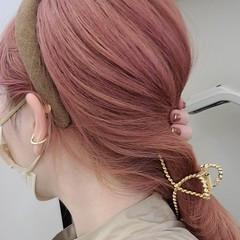 ピンクラベンダー ピンクベージュ モード ブリーチオンカラー ヘアスタイルや髪型の写真・画像