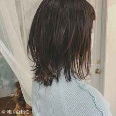 ゆるふわ ナチュラル 外ハネボブ シースルーバング ヘアスタイルや髪型の写真・画像