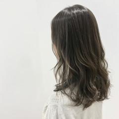 グラデーション セミロング 外国人風カラー 外国人風 ヘアスタイルや髪型の写真・画像