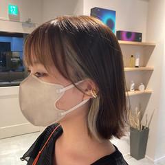 アンニュイほつれヘア インナーカラー ナチュラル 髪質改善トリートメント ヘアスタイルや髪型の写真・画像